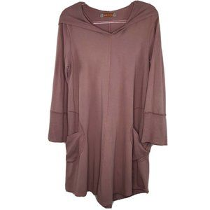 Blue Fish Hooded Tunic Size 1 Up To 16 Artsy Mauve